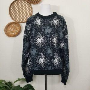 Vintage oversized knit sweater M